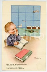 1942 REGIA AERONAUTICA Va a studiar le formule noiose - Ill. MARIAPIA Cartolina