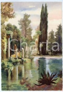 1942 CASERTA Regia Accademia Aeronautica - Laghetto del Giardino Reale CARTOLINA