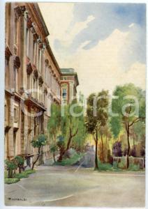 1942 CASERTA Regia Accademia Aeronautica - Angolo di giardino - Cartolina FG NV