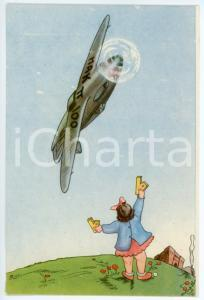 1942 MAK P 100 Regia Accademia Aeronautica XV Corso Integrazione *Cartolina FG