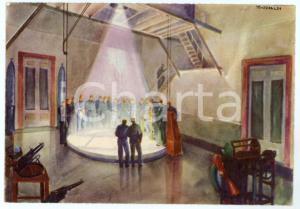 1942 CASERTA R. Accademia Aeronautica - Addestramento Tiro di caduta - Cartolina