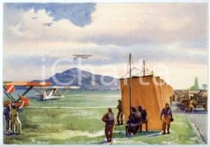 1942 CASERTA R. Accademia Aeronautica - Il volo nella stagione estiva CARTOLINA