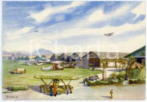 1942 CASERTA Regia Accademia Aeronautica - Campo di volo - Cartolina FG NV