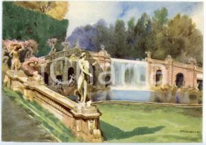 1942 CASERTA Regia Accademia Aeronautica - Fontana di Eolo - Cartolina FG NV