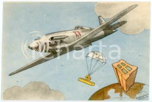 1942 MAK P 100 Regia Accademia Aeronautica XV Corso Integrazione *Cartolina