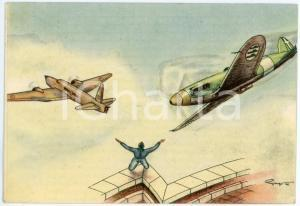 1941 MAK P 100 R. Accademia Aeronautica - Corso URANO - Cartolina illustrata FG