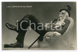1910 ca AFRIQUE - SATIRE S.M. l'Empereur du CONGO Carte postale FP NV