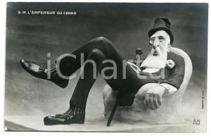 1910 ca AFRIQUE - SATIRE S.M. l'Empereur du CONGO Carte postale FP NV (1)