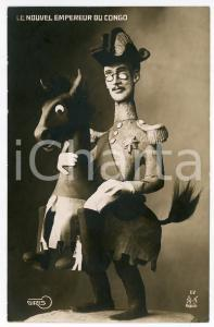 1910 ca AFRIQUE - SATIRE Nouvel Empereur du CONGO Carte postale FP NV