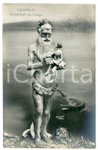 1910 ca AFRIQUE - SATIRE Léopold II Empereur du Congo - Carte postale FP NV