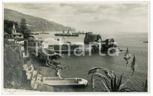 1938 MADEIRA - PORTUGAL Overview of Funchal Bay - Postcard FP VG