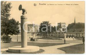1925 ca BRUXELLES Memorial aux Coloniaux et l'Abbaye de la Cambre Carte postale