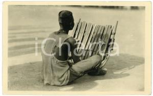 1951 CONGO - AFRICA Man playing a typical african musical instrument - Postcard