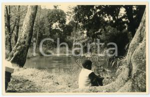 1950 ca AFRICA Child by the lake - Postcard FP NV