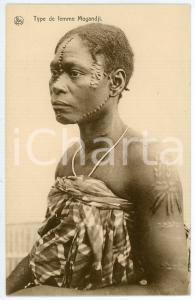1930 ca CONGO BELGE - AFRIQUE Type d femme MOGANDJI Carte postale FP NV