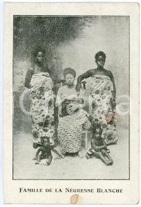 1930 ca AFRIQUE Albinisme - Famille de la négresse blanche - Carte postale FP NV