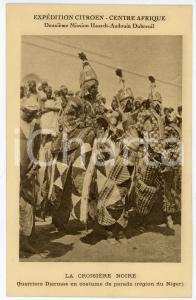 1930 ca NIGER - AFRIQUE Croisière noire - Guerriers DJERMAS - Carte postale FP