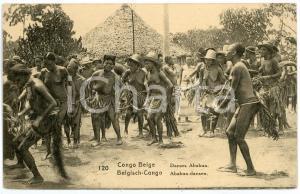 1930 ca CONGO BELGE - AFRIQUE Danses Ababua - Carte postale FP NV