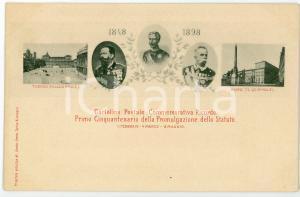 1898 STATUTO ALBERTINO Primo cinquantenario della promulgazione - Cartolina FP