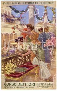 1911 CORSO DEI FIORI Associazione Movimento Forestieri - Cartolina ILLUSTRATA FP
