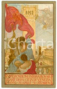 1909 VENEZIA - VIII Esposizione internazionale d'arte - Cartolina ILLUSTRATA FP