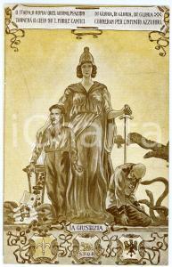 1915 ca IRREDENTISMO Guglielmo OBERDAN Ultima vittima degli Asburgo - Cartolina
