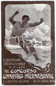 1906 MILANO Esposizione internazionale - Concorso ginnastico - Cartolina FP NV