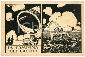 1925 ROVERETO Ingresso della Campana dei Caduti - Ill. di G. BALATA - Cartolina