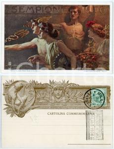 1906 MILANO Inaugurazione del SEMPIONE Ill. di Achille BELTRAME - Cartolina FP