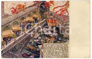 1914 VENEZIA - XI Esposizione internazionale d'arte - Cartolina ILLUSTRATA FP