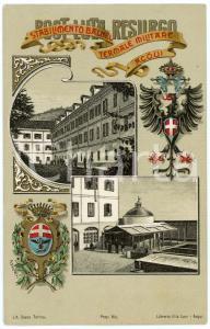 1900 ca ACQUI TERME Stabilimento balneo-termale militare - Cartolina FP NV