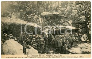 1915 ca WW1 - GRANDE GUERRA Messa al fronte - Cartolina FP NV