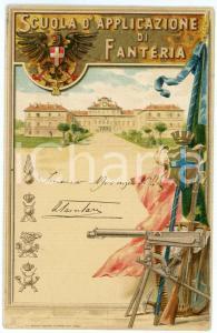 1911 REGIO ESERCITO Scuola d'applicazione di fanteria - Cartolina ILLUSTRATA