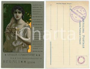 1903 BOLOGNA Società Barbieri, Parrucchieri, Profumieri - Cartolina CAMBONI RARA