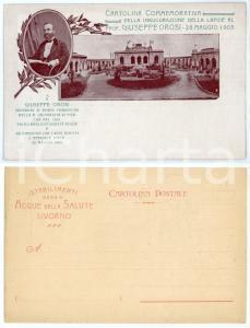 1905 LIVORNO TERME DEL CORALLO Cartolina inaugurazione lapide Giuseppe OROSI