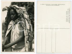 1930 ca C. ZAGOURSKI «L'Afrique qui disparaît» RUANDA Un parapluie *Postcard 118