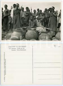 1930 C. ZAGOURSKI «L'Afrique qui disparaît»  RUANDA Vente de vin *Postcard 122