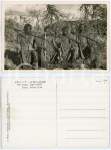 1930 ca C. ZAGOURSKI «L'Afrique qui disparaît» KENIA Type MASSAI *Postcard 148