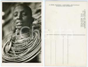 1930 ca C. ZAGOURSKI «L'Afrique qui disparaît» KENIA Femme MASSAI *Postcard 151