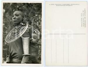 1930 ca C. ZAGOURSKI «L'Afrique qui disparaît» KENIA Femme MASSAI *Postcard 155