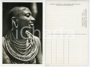 1930 ca C. ZAGOURSKI «L'Afrique qui disparaît» KENIA Femme MASSAI *Postcard 152