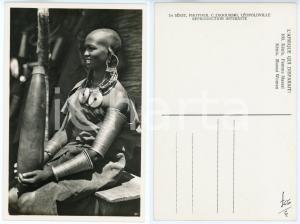1930 ca C. ZAGOURSKI «L'Afrique qui disparaît» KENIA Femme MASSAI *Postcard 160