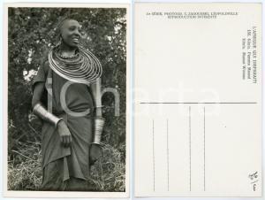 1930 ca C. ZAGOURSKI «L'Afrique qui disparaît» KENIA Femme MASSAI *Postcard 156