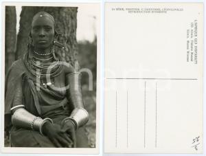 1930 ca C. ZAGOURSKI «L'Afrique qui disparaît» KENIA Femme MASSAI *Postcard 158