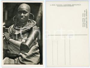 1930 ca C. ZAGOURSKI «L'Afrique qui disparaît» KENIA Femme MASSAI *Postcard 159