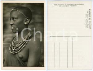 1930 ca C. ZAGOURSKI «L'Afrique qui disparaît» KENIA Femme MASSAI *Postcard 154