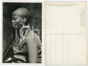 1930 ca C. ZAGOURSKI «L'Afrique qui disparaît» KENIA Femme MASSAI *Postcard 157