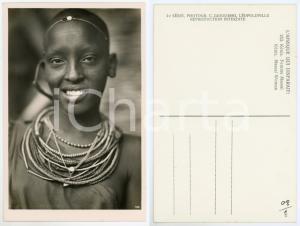 1930 ca C. ZAGOURSKI «L'Afrique qui disparaît» KENIA Femme MASSAI *Postcard 153