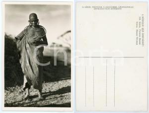 1930 ca C. ZAGOURSKI «L'Afrique qui disparaît» KENIA Femme MASSAI *Postcard 165