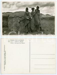 1930 C. ZAGOURSKI «L'Afrique qui disparaît» KENIA Parmi les MASSAI *Postcard 169